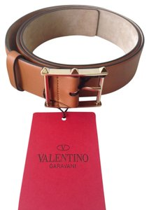 Valentino VALENTINO NWT LADIES'S HGH STUDS COGNAC LEATHER BELT