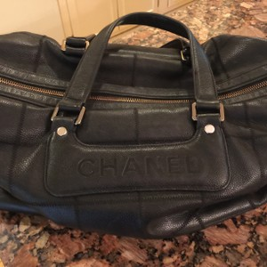 Chanel Rare Vintage Leather Satchel in Black