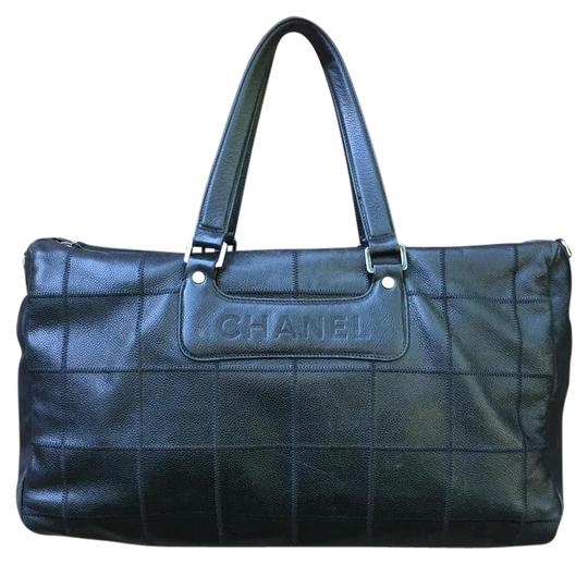 Chanel Rare Vintage Leather Bags Satchel in Black