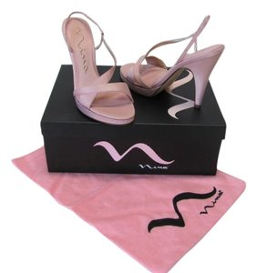 Nina New Excellent Condition Size 6.50m Dust Bag Light Pink Platforms