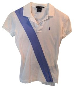 Ralph Lauren T Shirt White and blue
