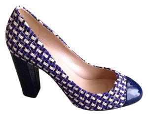 J.Crew blue and white Pumps
