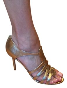 Manolo Blahnik Gold Platforms