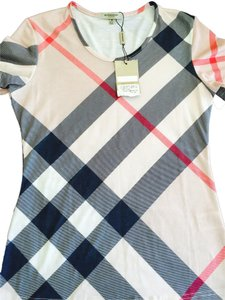 Burberry T Shirt Pink and cream
