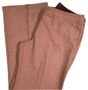 The Limited Houndstooth Boot Cut Pants Brown/Pink