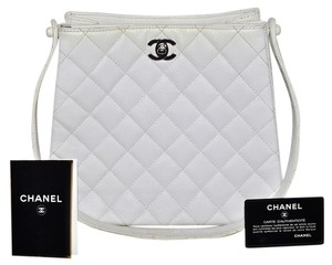 Chanel Caviar Quilted Satchel in White
