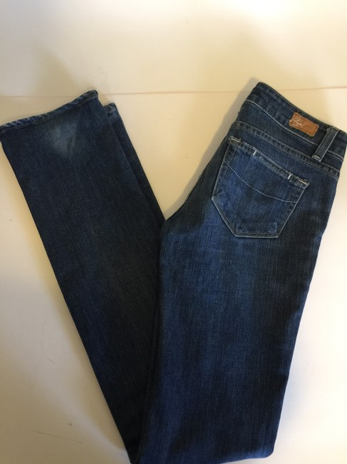 Paige Straight Leg Jeans-Coated