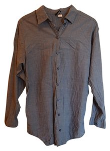 Divided by H&M Classic Chambray Button Down Shirt Blue