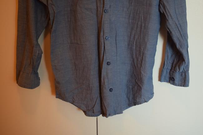 Divided by H&M Classic Chambray Button Long Tuck In Tuck Hm Collared Collar Button Down Shirt Blue