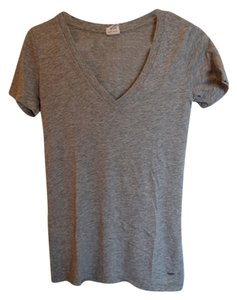 Victoria's Secret Classic V-neck Basic T Shirt Gray