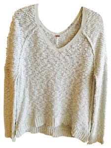 Free People Knitted Cotton Sweater