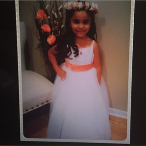 Michelangelo White Flower Girl Dress