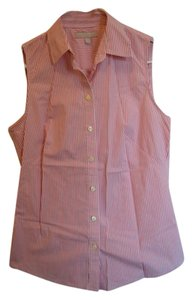 Banana Republic Perfect Club Country Club Button Down Shirt Pink