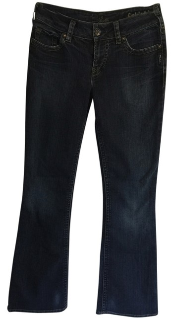 Silver Jeans Co. Size 28 Boot Cut Jeans-Dark Rinse