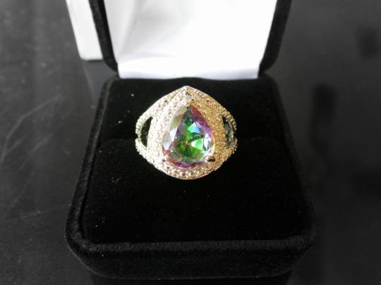 Other Mystic Rainbow Topaz, White Topaz 925 Sterling Silver Ring 7.5