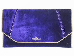 Cole Haan B44042 Velvet Masquerade Envelope Purple Clutch