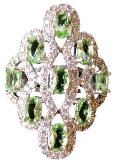 Preload https://item4.tradesy.com/images/unknown-green-amethyst-white-zircon-925-stering-silver-ring-4563763-0-0.jpg?width=440&height=440