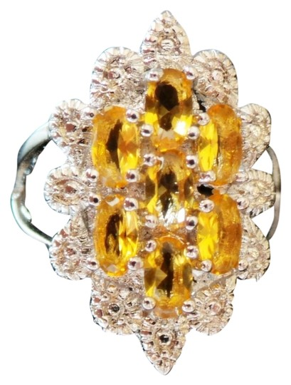 Preload https://item1.tradesy.com/images/golden-citrine-and-white-zircon-925-sterling-silver-cocktail-7-ring-4564015-0-0.jpg?width=440&height=440