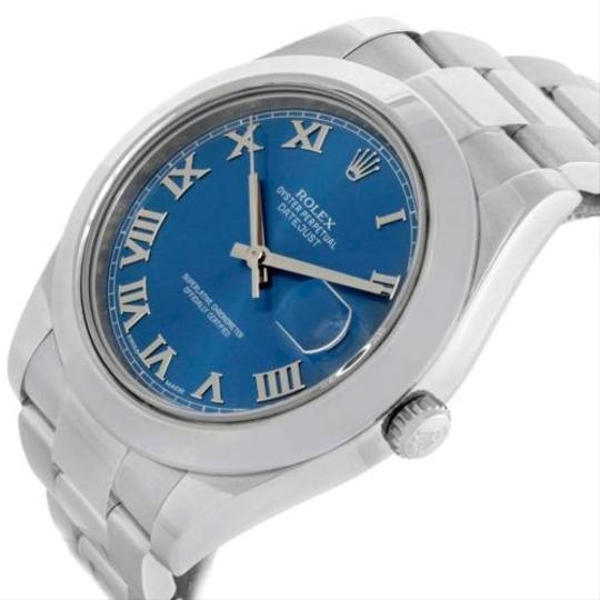 Rolex Rolex Datejust Ii Blue Roman Dial Mens Stainless Steel Watch 116300