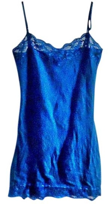 Item - Teal Stretchy Lace Trim Cotton Tank Top/Cami Size 4 (S)