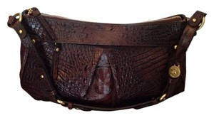 Brahmin Croc Embossed Shoulder Bag