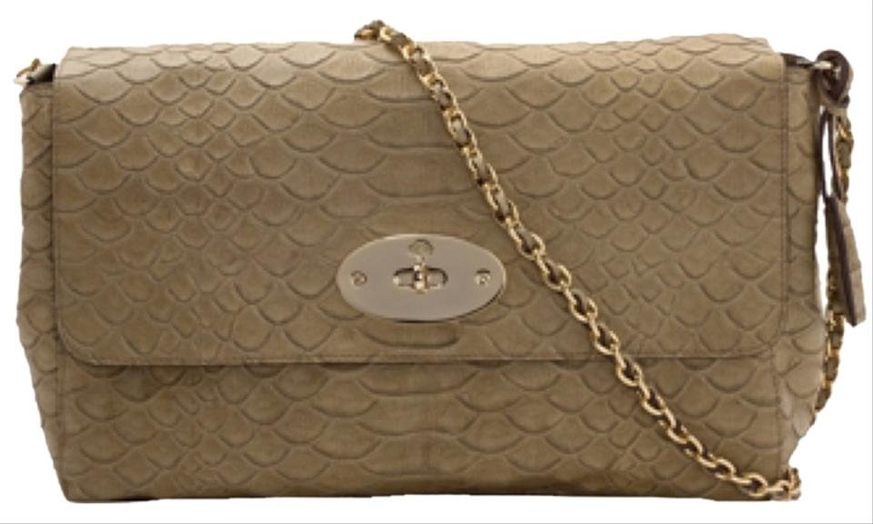 129a388776 Mulberry Large Lily Green Snake Leather Shoulder Bag - Tradesy