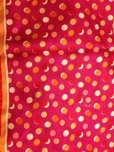 Coach Coach Pink Multi Color Daisy Polka Dot print silk square scarf