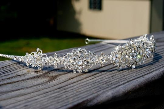 Silver/Silver Marked Down Rhinstone Headband Hair Accessory