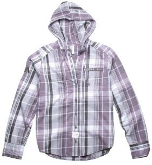 RVCA Button Down Shirt Purple