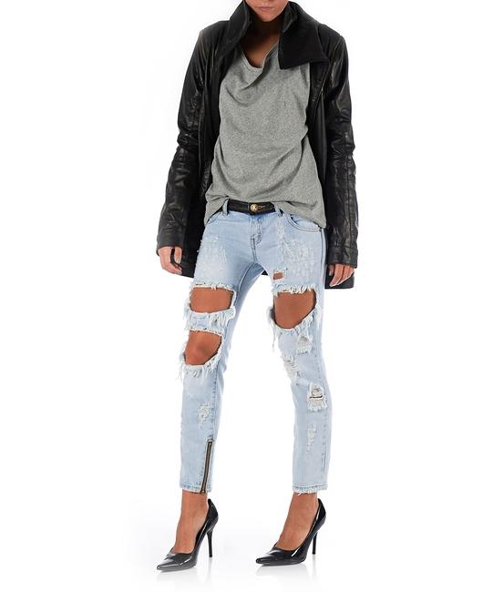 One Teaspoon Distressed Skinny Jeans-Light Wash