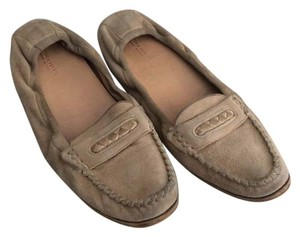 Bottega Veneta Suede Braided Comfortable Loafer Tan Flats