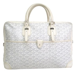 Goyard Ambassade Briefcase Stock010280 Satchel in White