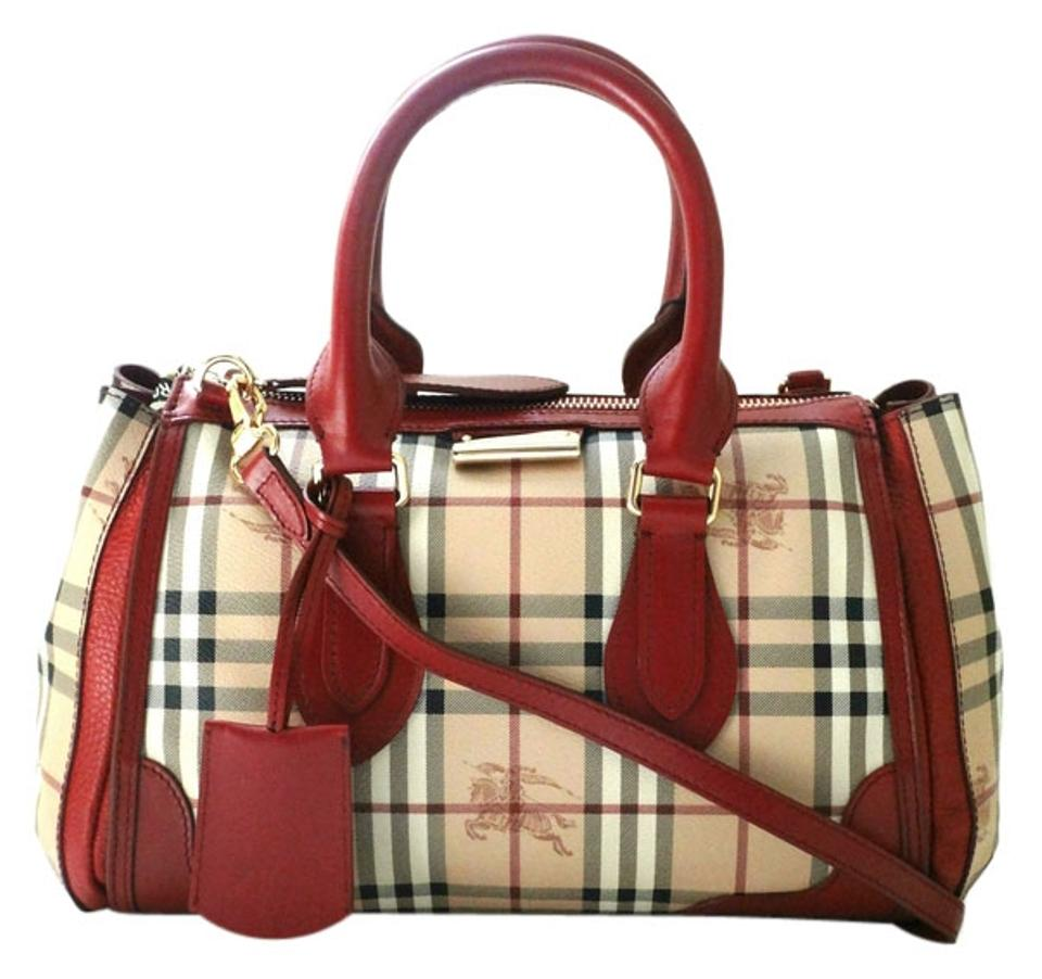 36451fe99f70 Burberry Leather  Guaranteed Your Money Back Satchel in Military Red Image  0 ...