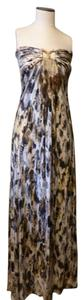 Sky Maxi Full Length Feathers Dress