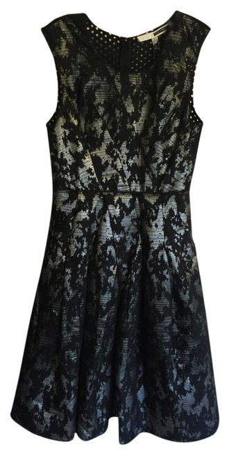 Preload https://item2.tradesy.com/images/tracy-reese-blacksilver-cross-pleat-mid-length-cocktail-dress-size-6-s-4576486-0-0.jpg?width=400&height=650