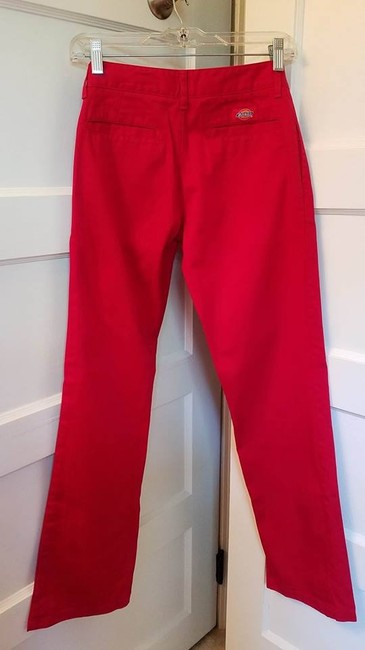 Dickies Straight Pants Red