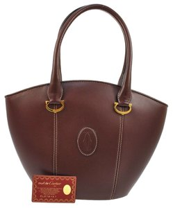 Cartier Jit2647248j Hand Must Leather Bordeaux Tote in Reds