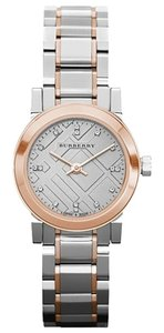 Burberry Burberry Watch, Women's Swiss Diamond Accent Two-Tone Stainless Steel Bracelet 26mm BU9214