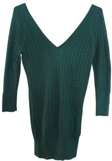 Preload https://item1.tradesy.com/images/frenchi-green-thin-knit-sweaterpullover-size-8-m-4580-0-0.jpg?width=400&height=650