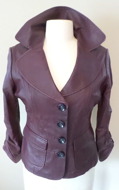 In Suede Deep Berry Leather Jacket