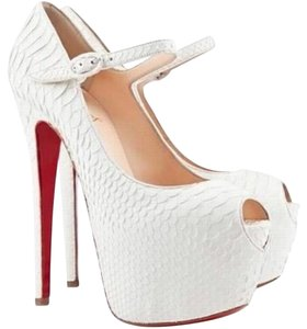 Christian Louboutin White Platforms