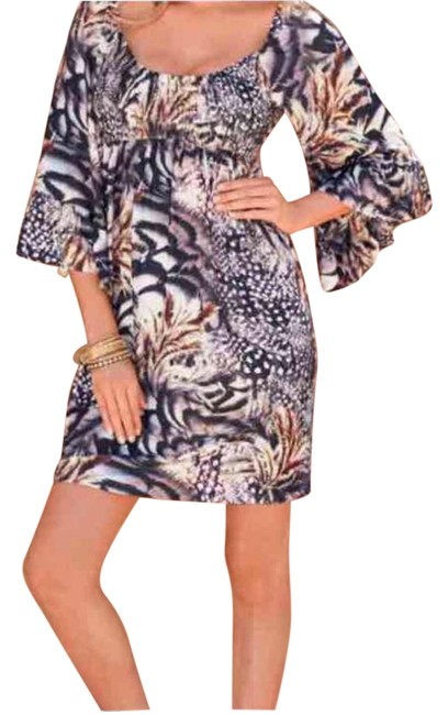 Preload https://item2.tradesy.com/images/boston-proper-spotted-feather-boho-mid-length-short-casual-dress-size-10-m-4580446-0-2.jpg?width=400&height=650