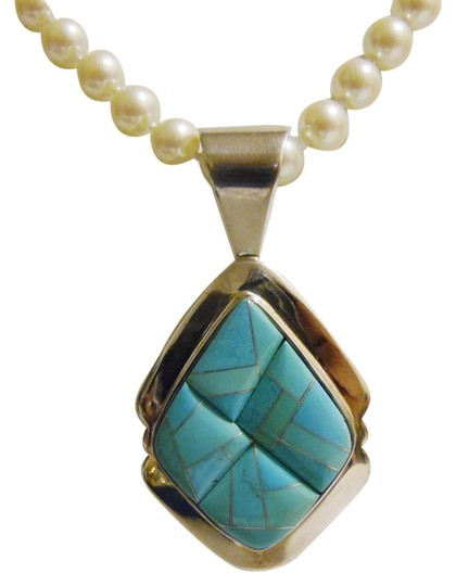 Mine Finds by Jay King Mine Finds by Jay King .925 Sterling Silver Turquoise Pendant