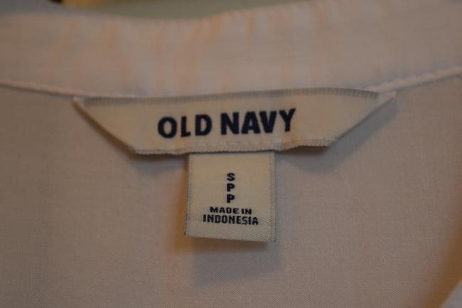 Old Navy Cute Basic Non-collared No Collar Non-collar Sleeveless Patch Breast Pockets Button Down Shirt White