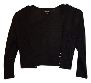 Express Sparkly Sparkle Crop Cropped Cardigan