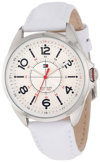 Tommy Hilfiger Tommy Hilfiger Women 1781261 White Leather Stainless Steel Watch
