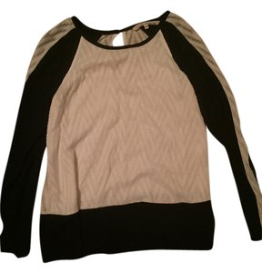 Rachel Roy Shirt Top Black white
