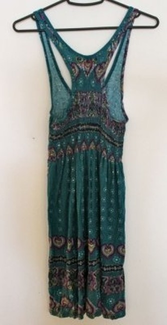 Lovely Day short dress Turquoise paisley on Tradesy