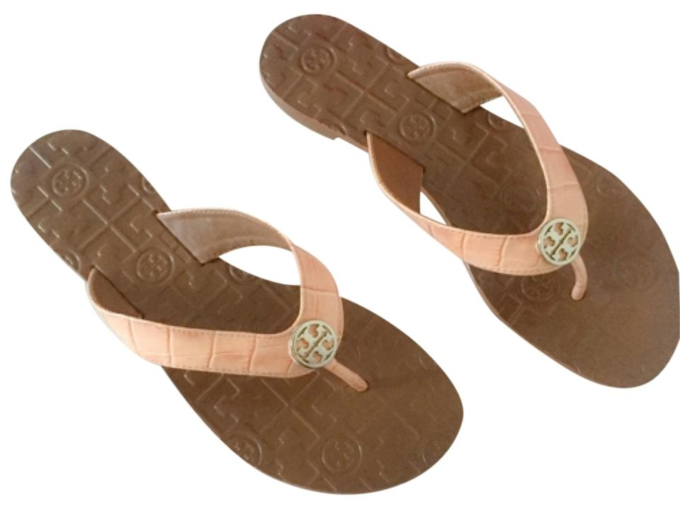 4333d168c7f5 Tory Burch Thora 2 Bethany Croc Print Light Oak Sandals Size US 7 ...