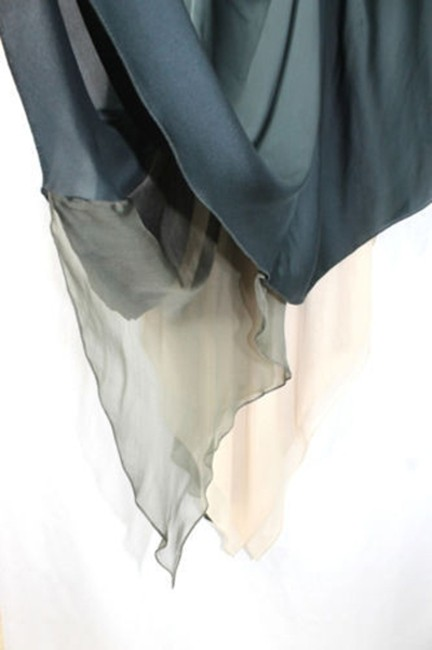 Other Asymmetrical Hemline Silk Skirt